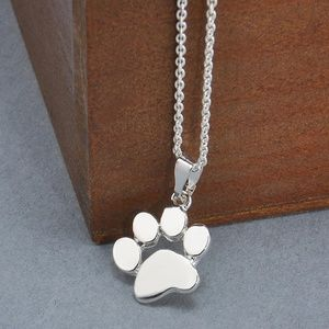 Brand New Silver Doggy Paw Necklace